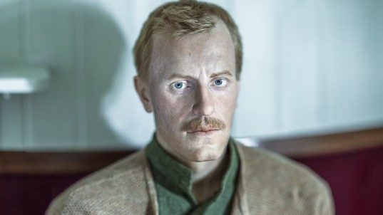 Cathrine Abrahamsson's new Nansen figure. Apparently once again lost in thought on board the Fram.
