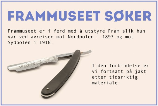 The museum needs your help (norwegian language only)